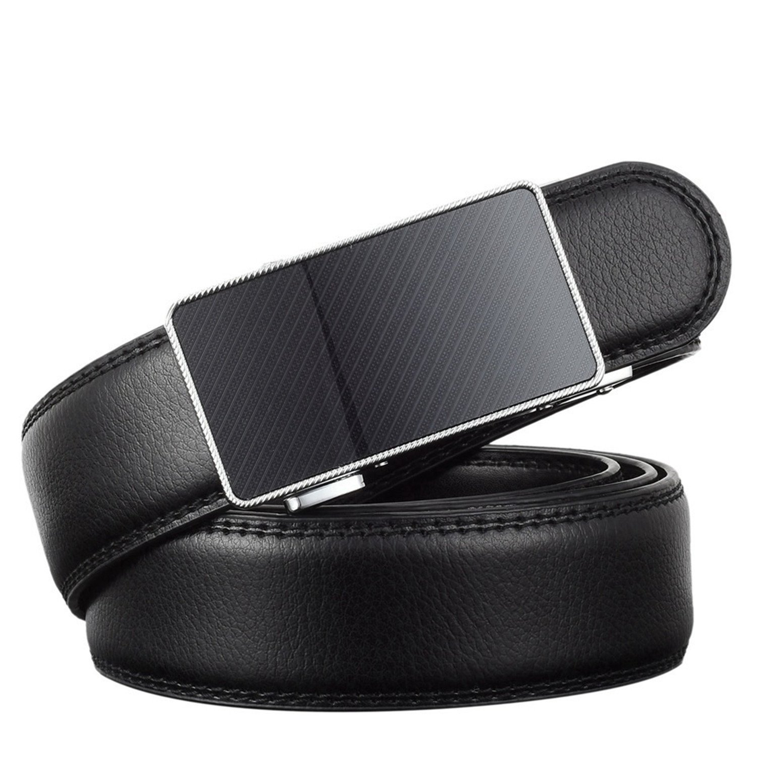 Leather Strap Male Automatic metal Buckle Belts For Men Waistband