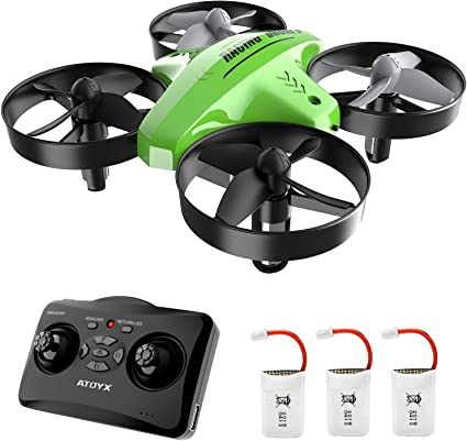 Mini Drone for Kids Toys for 6 7 8 9-12 year old boy 2 Batteries Children Christmas Birthday Gifts Orange Remote Control Helicopter Quadcopter with Altitude Hold RC Drone for Beginner with Light