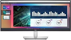 Dell 34-inch Ultrawide WQHD Curved USB-C Monitor (P3421W), 3440 x 1440 at 60Hz, 21:9 Aspect Ratio, 3800R Curvature, 1.07 Billion Colors, Height/Swivel/Tilt Adjustable, Black (Latest Model) (Renewed)