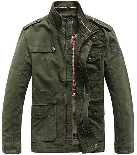 on sale d47be 5091a Giacca SZYYDS, primaverile, stile militare, da uomo, in ...