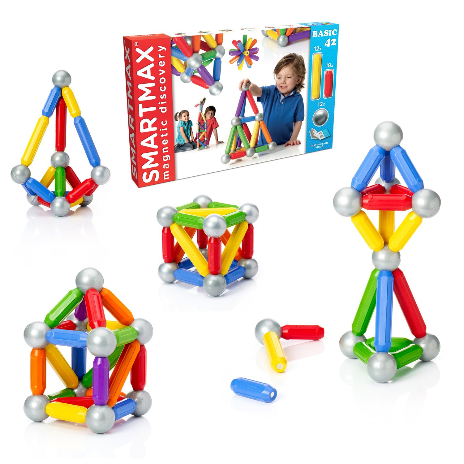 SmartMax Basic 42 Piece Construction Kit Amazon Toys & Games