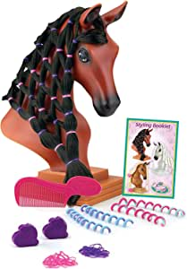 "Breyer Horses Mane Beauty Horse Styling Head |Blaze | Black Extra-Long Silky No Tangle Mane | 10"" x 4.25"" x 4.25"" 