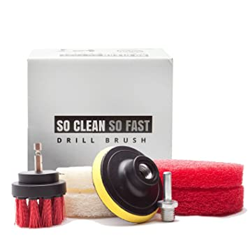 Ultimate Drill Scrub Kit   Clean 5X Faster   Remove Hard Water Stain, Soap  Scum