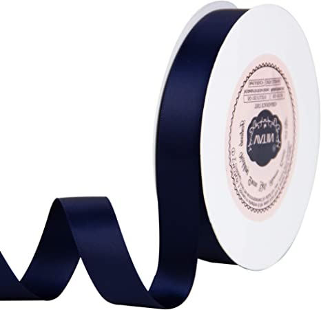 25 Yard Spool Wreath Baby Shower,Packing and Other Projects. VATIN 1 inch Double Faced Polyester Satin Ribbon Black Perfect for Wedding
