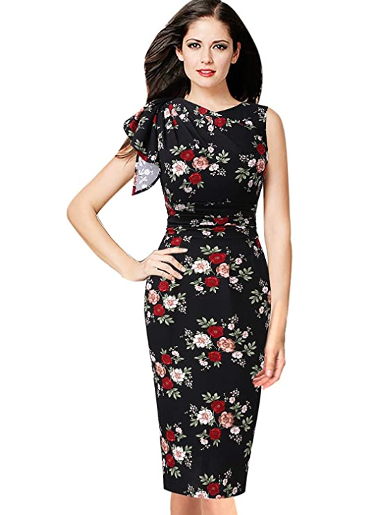 VFSHOW Womens Celebrity Elegant Ruched Cocktail Party Bodycon Sheath Dress at Amazon Womens Clothing store: