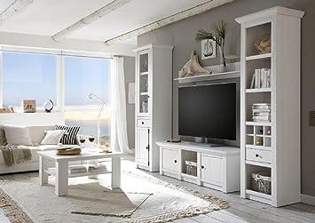 Wohnwande Modern Set : Dreams4home wohnwand tinnum iv set vitrine tv lowboard