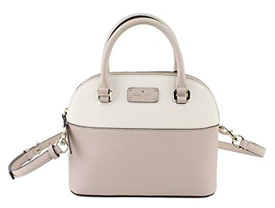 d9c19dbb5 Kate Spade Grove Street Mini Carli Leather Crossbody Bag Purse Satchel Shoulder  Bag (Cream/