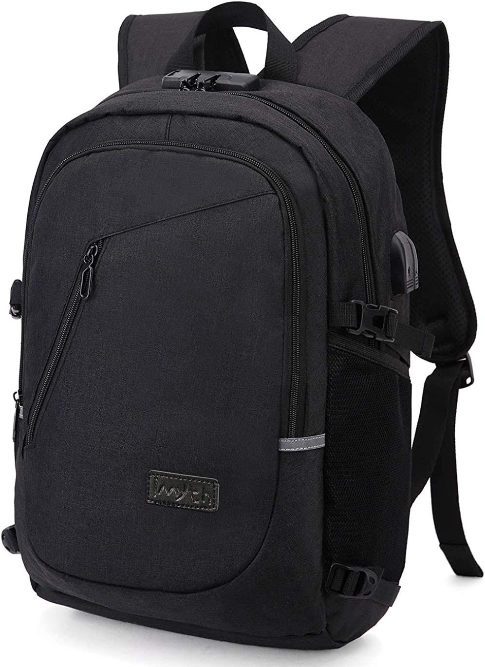 Casual Laptop Backpack, Anti Theft Waterproof With USB Charging Port, Slim Lightweight Travel backpack Fits 15.6 inch
