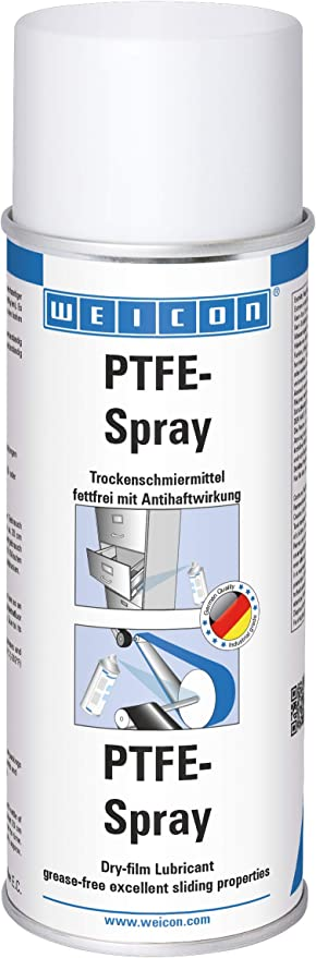 Weicon 11300400 Ptfe Spray 400ml Hitzefester Trockenschmierstoff Mit Antihaftwirkung Weiß Baumarkt
