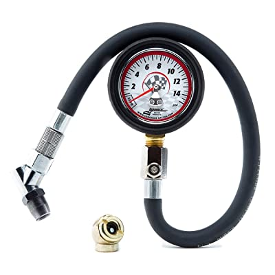 "Longacre 52034 Analog 2"" Tire Gauge 0-15 psi: Automotive"