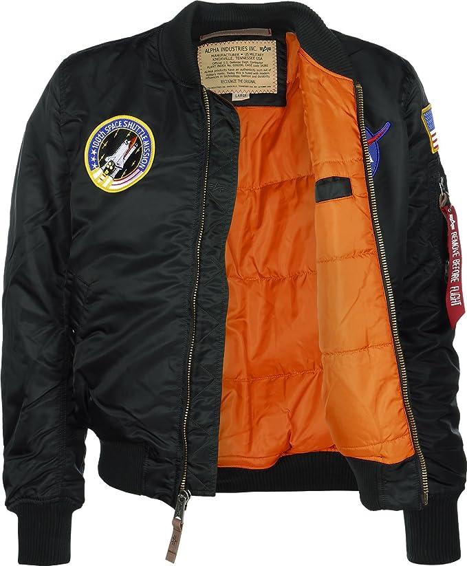 Amazon.com: Alpha Industries MA-1 VF NASA Astronaut Flight ...