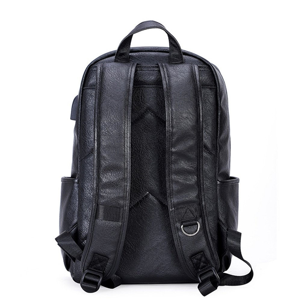 4c06e2389861 Amazon.com: UKXMNC Backpacks PU Leather Waterproof Daypack Men's ...