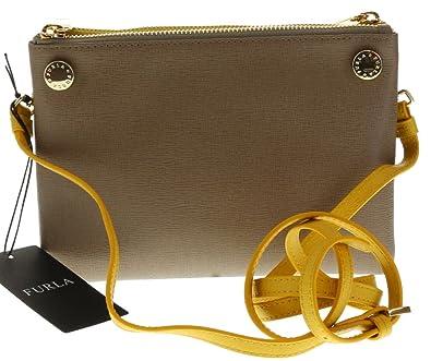 Amazon.com: Furla Lilli Saffiano Leather Shoulder Crossbody Clutch ...