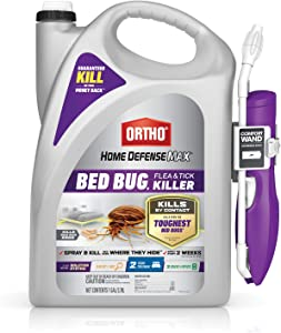 Ortho Home Defense Max Bed Bug, Flea and Tick Killer - With Ready-to-Use Comfort Wand, Kills Bed Bugs and Bed Bug Eggs, Bed Bug Spray Also Kills Fleas and Ticks, 1 gal.