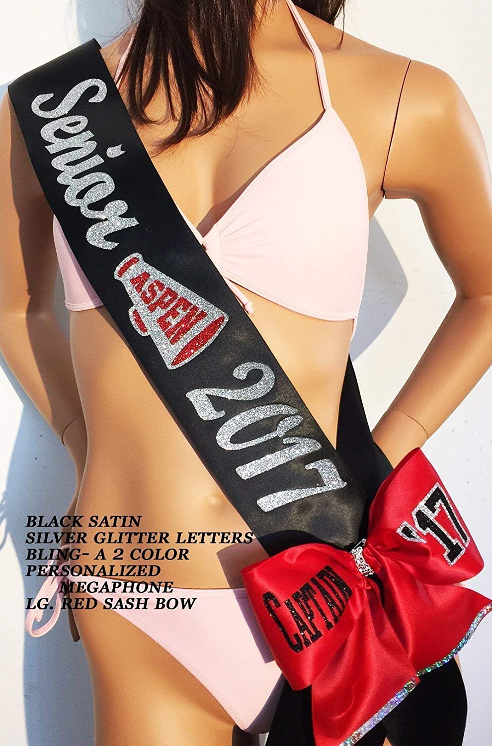 Senior '19, Senior Night Sash, Class of, Trim, Bling, Shoulder Zazzle and Bows avail. at an add'l cost. By SashANation Senior '19