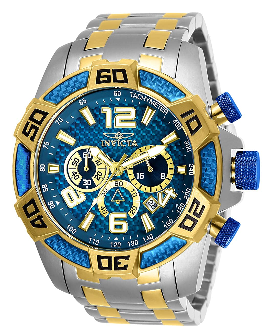 Invicta Men s Pro Diver Quartz Stainless-Steel Strap, Two Tone, 26 Casual Watch Model 25855