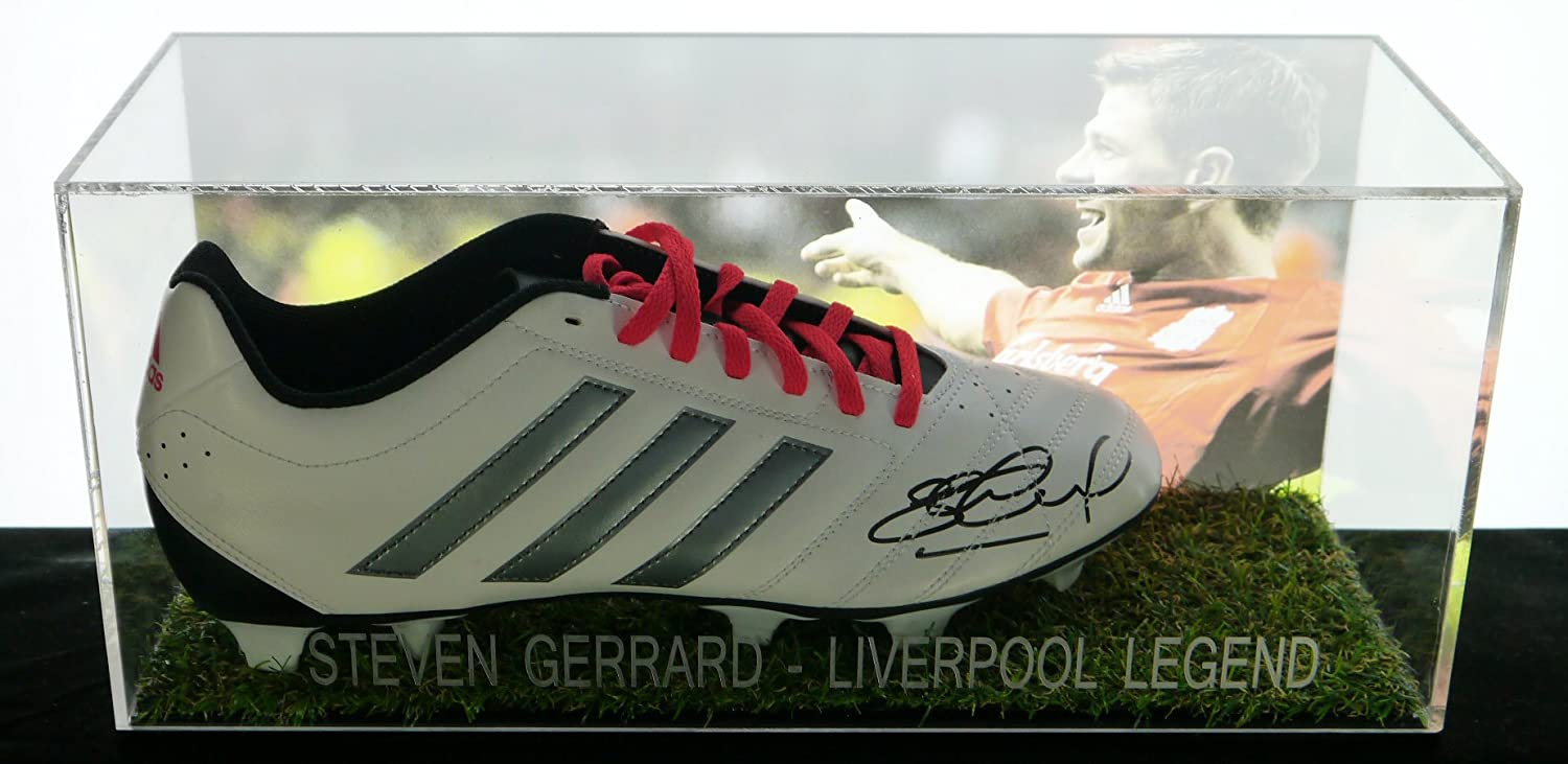 ca941b14730 FMS Steven Gerrard signed boot in an acrylic box with COA  Amazon.co.uk   Sports   Outdoors