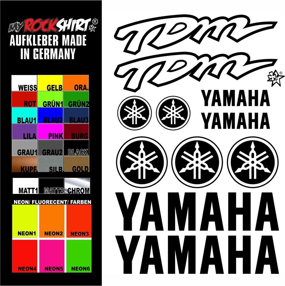 Myrockshirt Sticker Set Yellow Yamaha Tdm Sticker Set Decal