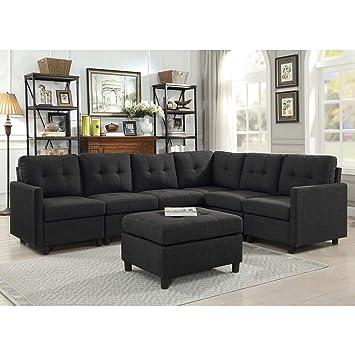7 piece living room set live bliss brands modular sectional sofa sets assemble 7piece livingroom sofas bundle set cushions storage amazoncom