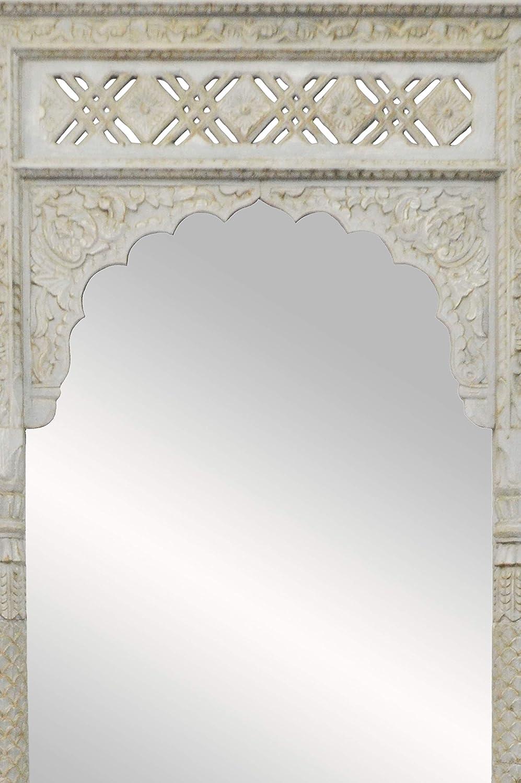 Espejo de pared oriental Hossam, 205 cm, color gris, espejo ...