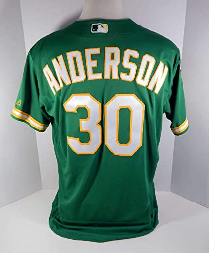 cheap for discount fd6f1 c7fdd 2018 Oakland Athletics A's Brett Anderson #30 Game Issued ...