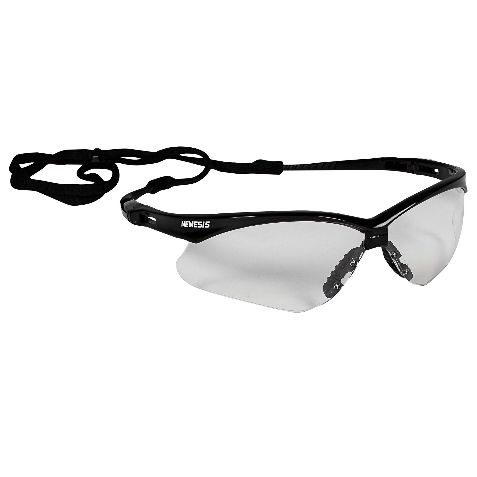 Jackson Safety V30 Nemesis Safety Glasses (25676), Clear with Black Frame, 12 Pairs / Case
