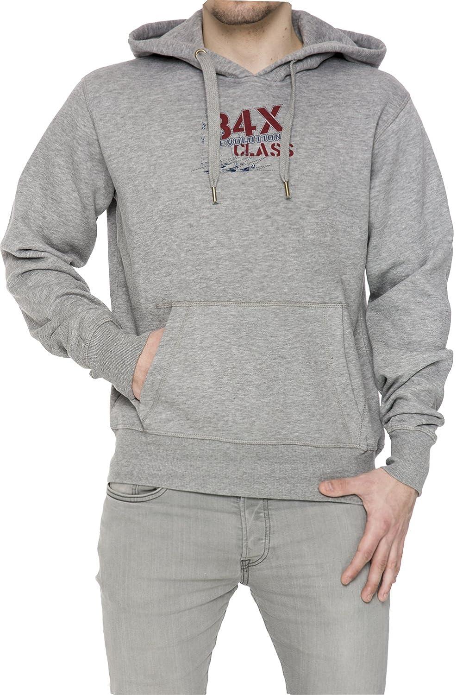 84X Evolution Gris Algodón Hombress Sudadera Sudadera Con Capucha Pullover Grey Men's Sweatshirt Pullover Hoodie