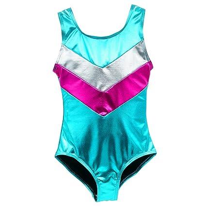 12643a7d4 Amazon.com   Happy Cherry Girls  Gymnastics Sparkle Leotard One ...