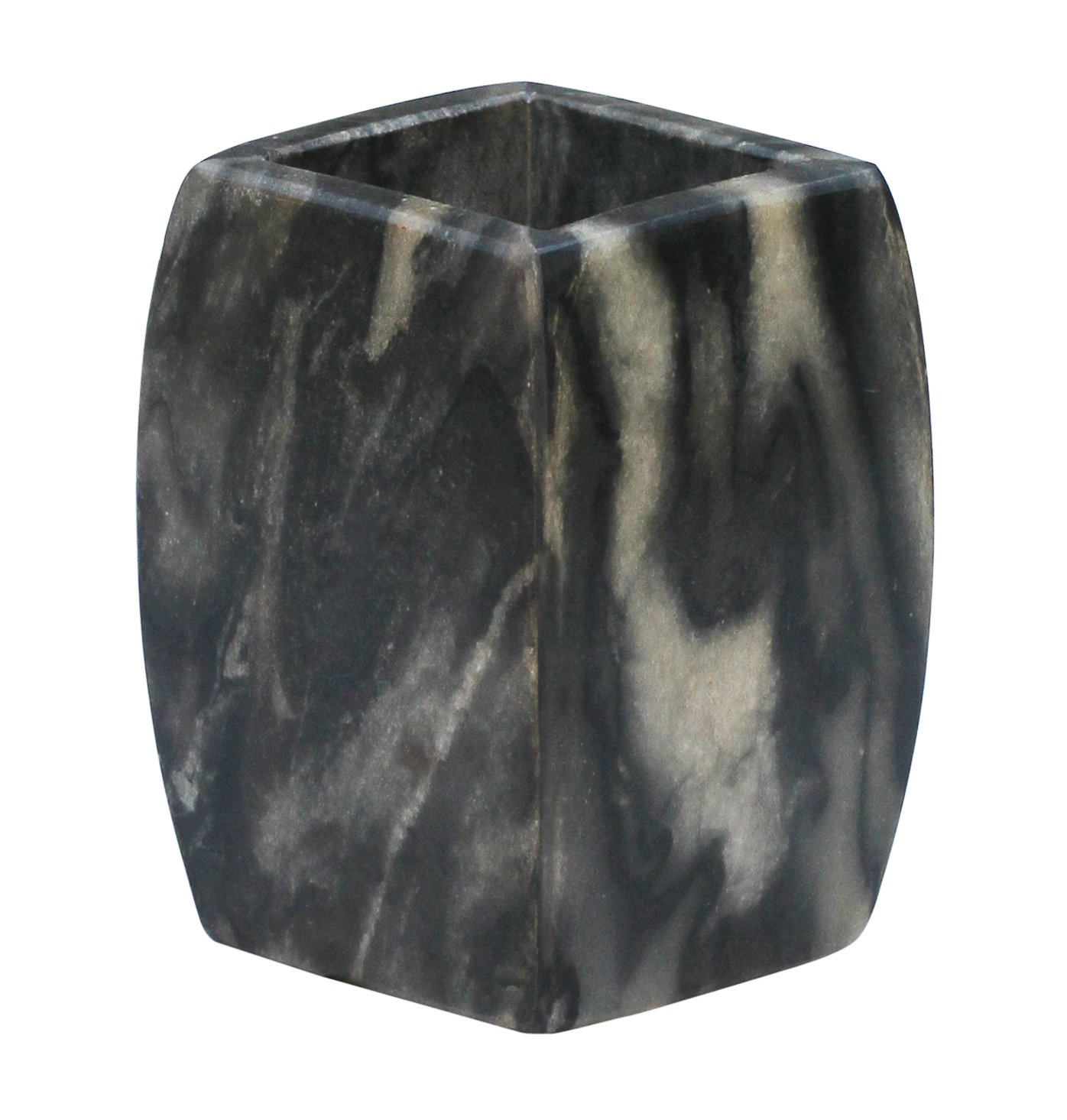 bathtumbler cup 4 handmade natural gray black marble tumbler bath ensemble stone art unique bathroom kitchen sink accessories home kitchen