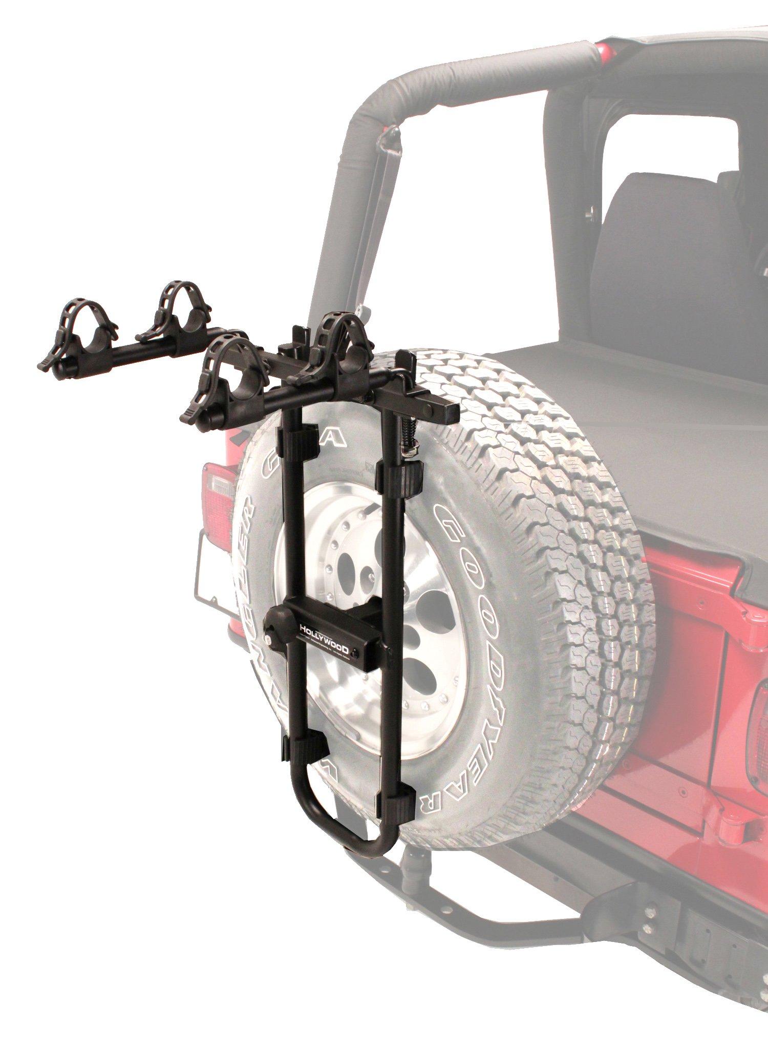 Hollywood Racks Bolt-On Spare Tire Rack, Black