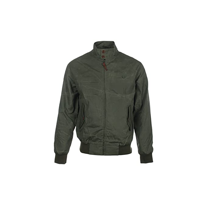 Fred Perry Harrington Chaqueta Waxed Caqui Medium: Amazon.es ...