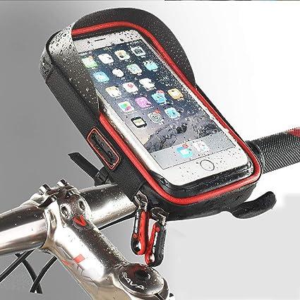YHONG-BicycleBag Bolsa para Bicicleta, Soporte de teléfono, Bolsa Impermeable, Estante de