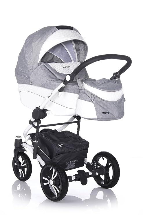 bebetto Calidad Moderno Travel Sistema cochecito bebé Buggy Paseo. Sistema + Bolso cambiador + Protector