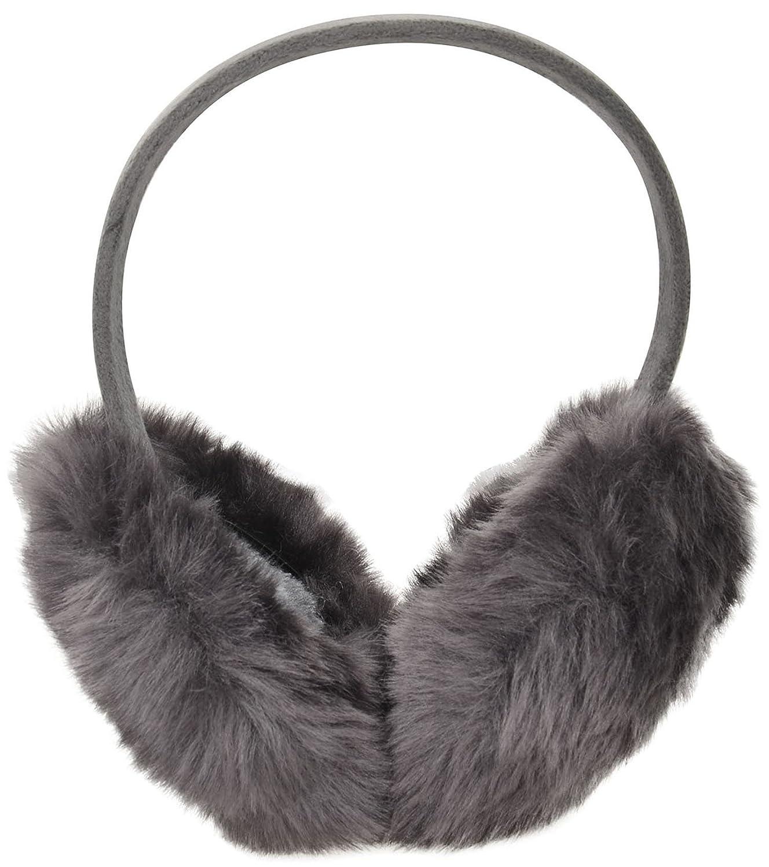 Unisex Warm Fuzzy Faux Fur Lined Winter Ear Muffs Ear Warmer