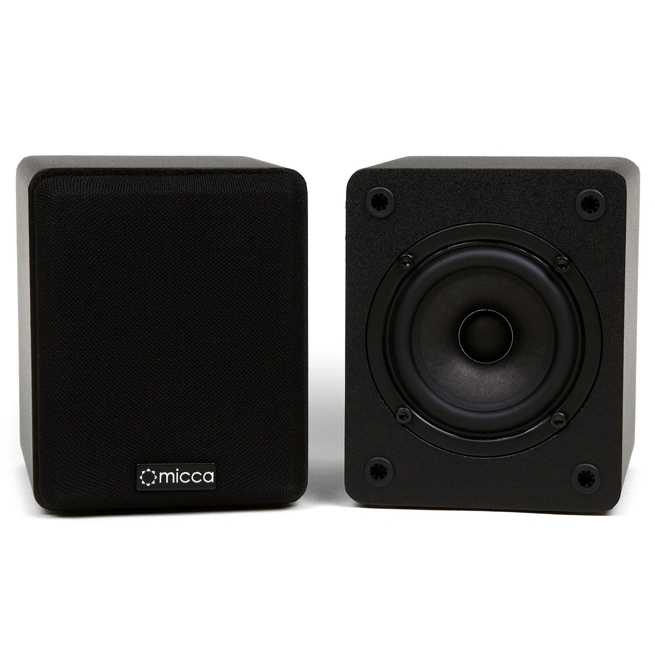front facing Micca COVO-S Compact 2-Way Bookshelf Speakers