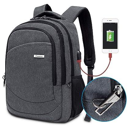 794054f64523 Modoker School College Backpack, Anti Theft Laptop Backpack Bookbags Slim  Business Travel Backpack for Men Women, Lightweight Computer Bag with USB  ...