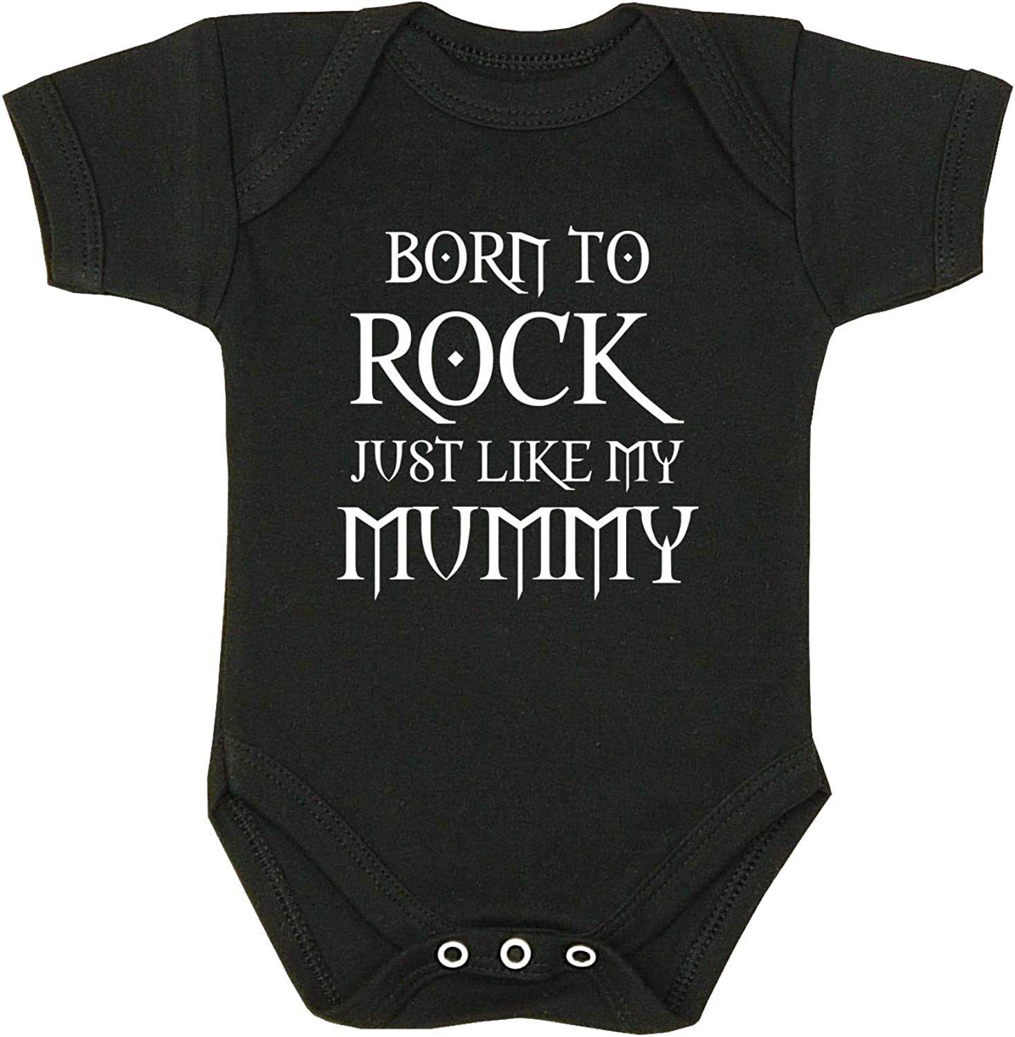 12mth Mummy Rocks Bodysuit Vest Baby Clothes Fun Slogan Girls Boys Mum Gift NB