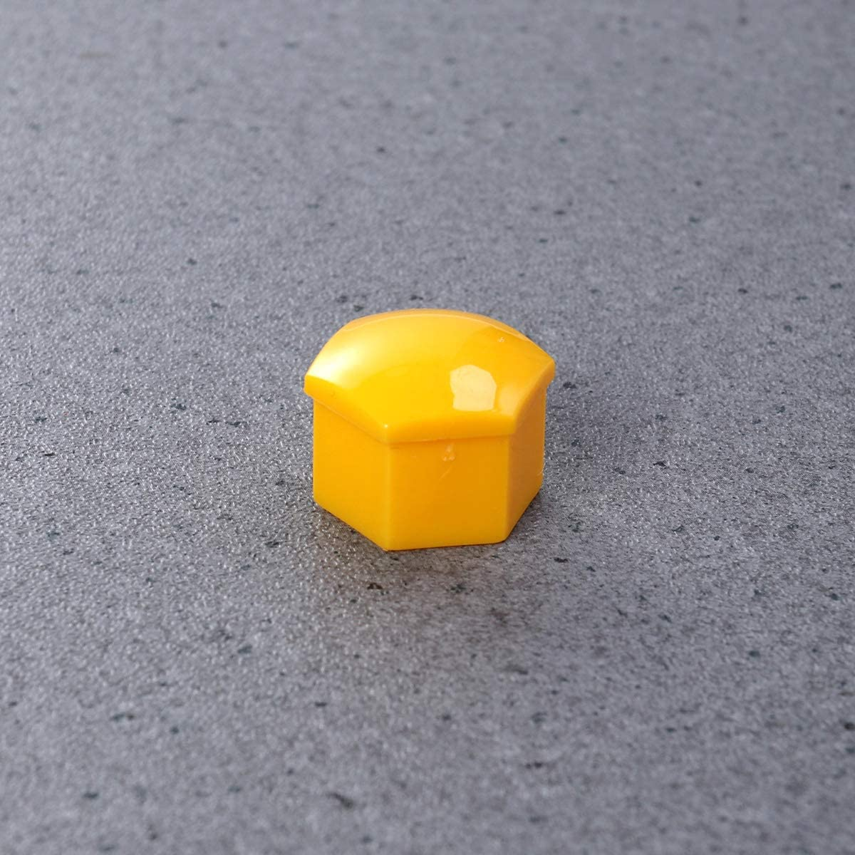 Yellow Vosarea 21 in 1 Hexagonal Wheel Lug Nut Covers Bolts Covers Screw Protect Caps 17mm with Clips