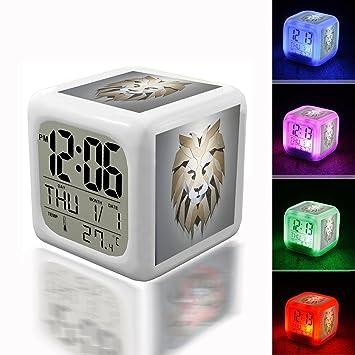 Despertar Alarma Termómetro noche Glowing Cube 7 colores ...