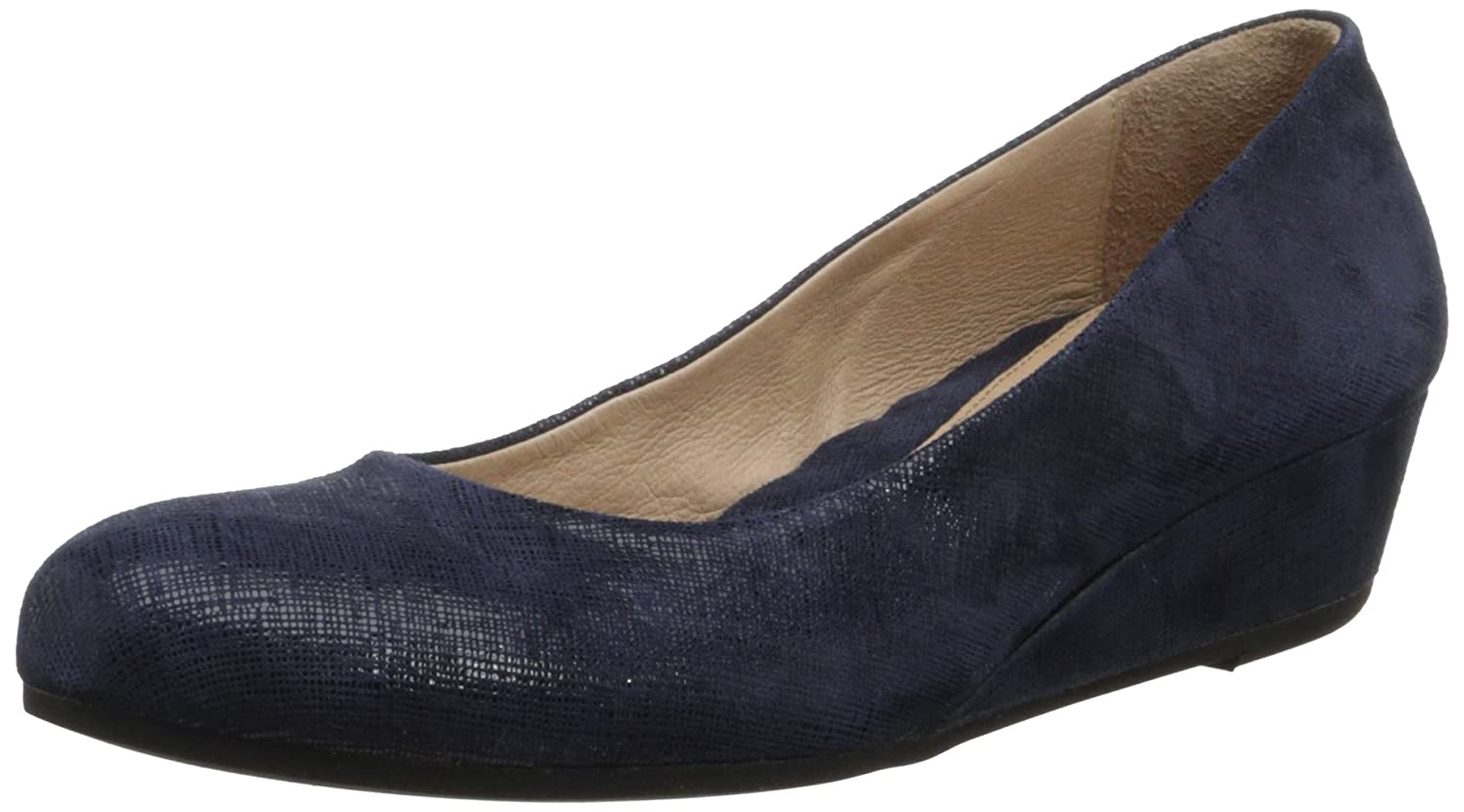 French Sole FS/NY Women's Gumdrop Wedge Pump B00C40WMXW 6.5 B(M) US|Navy Cartizze