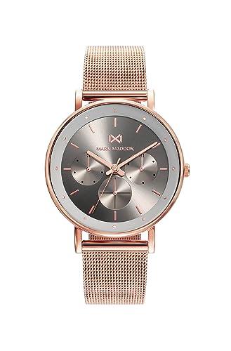 Mark Maddox Reloj Analógico para Mujer de Cuarzo con Correa en Acero Inoxidable MM0106-17: Amazon.es: Relojes