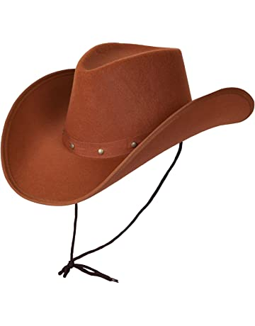 c9ae9875dcc3e2 Wicked Costumes Adult Texan Cowboy Hat Brown Fancy Dress Party Accessory  Country Western Rancher