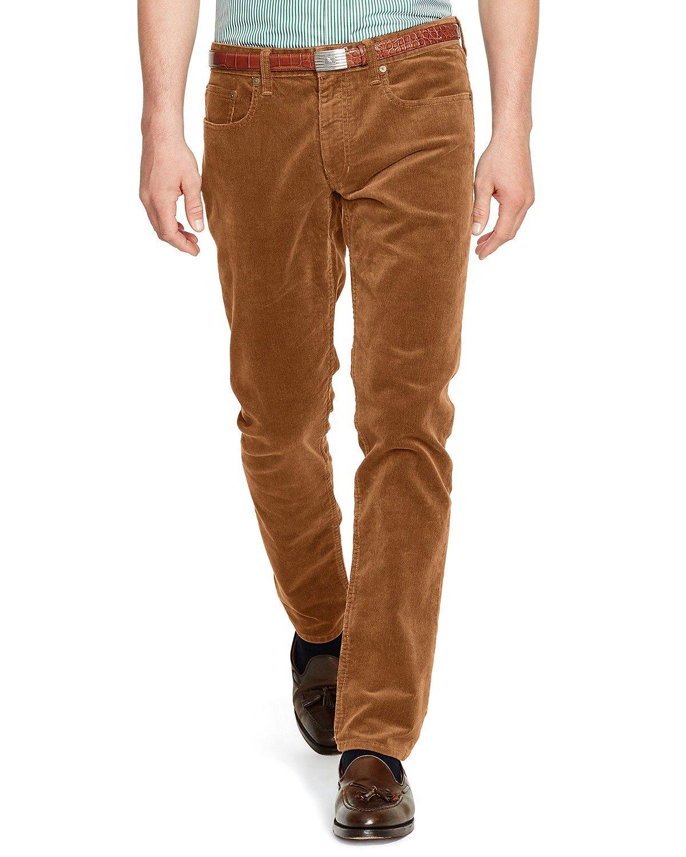4ffc146e9c99c1 Details about Polo Ralph Lauren Men's Varick Stretch Slim Straight Fit  Corduroy Pants