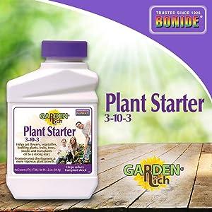 Bonide (BND160 - Garden Rich Plant Starter 3-10-3 Fertilizer, Plant Growth Liquid Concentrate (16 oz.)