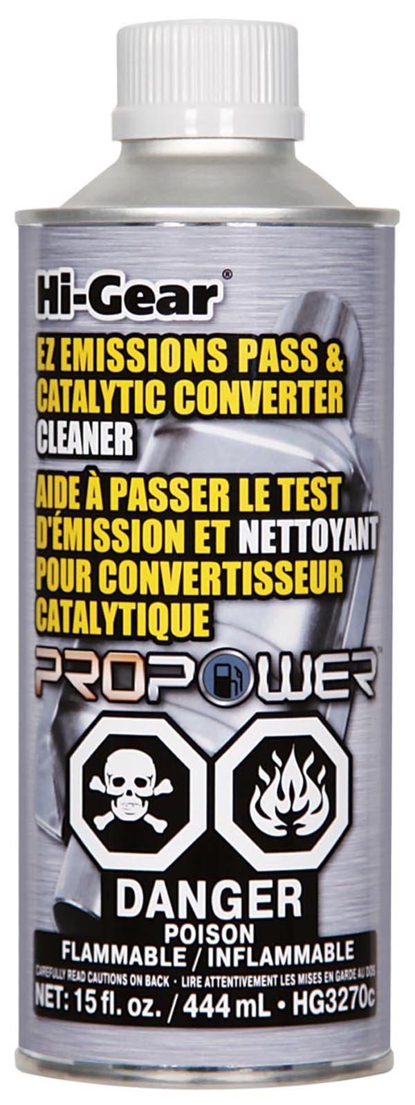 Hi-Gear HG3270c EZ Emissions Pass & Catalytic Converter Cleaner, 15 fl. oz.