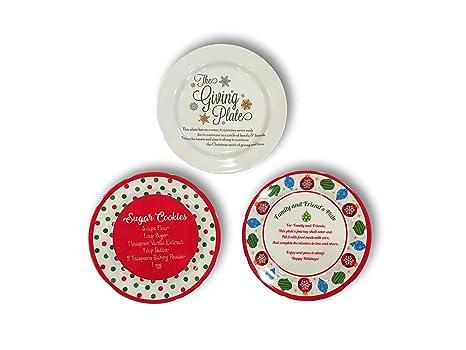 Amazon.com: Juego de tres platos de melamina para regalos de ...