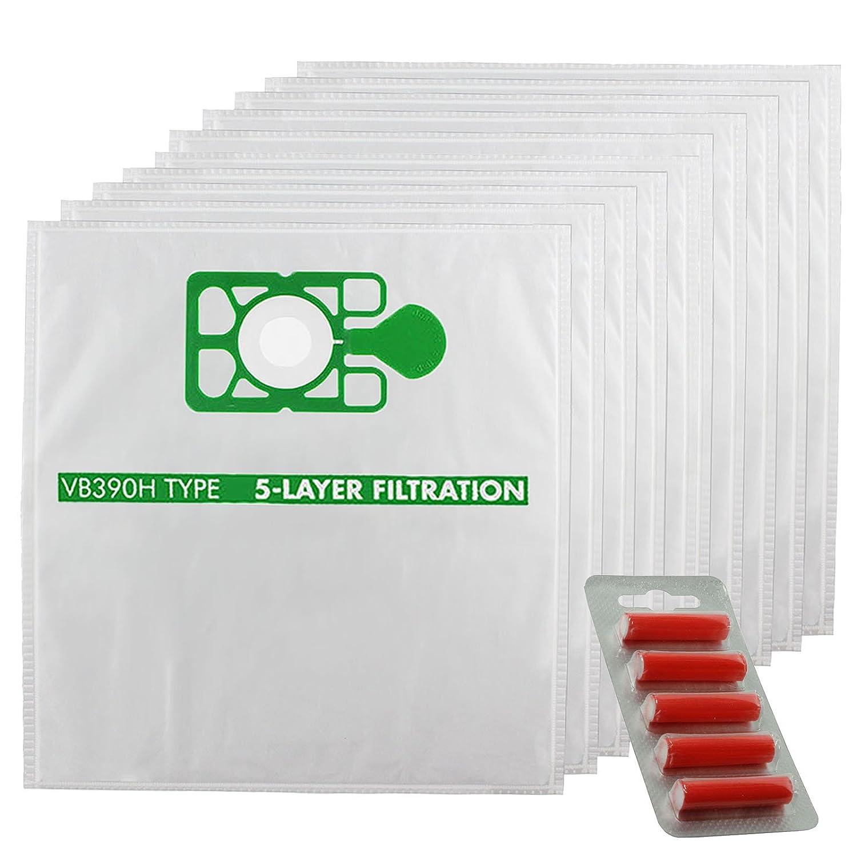 10 x HEPAFLO Cloth Bags Fresheners for Numatic HENRY HVR200a HVR200 Vacuum