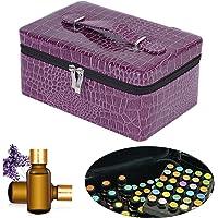 Funda Aceite Esencial Caja 72 Almacenamiento aceites Esenciales Transporte Portátil Soporte Organizador para 15ml Botellas de Essential Oils