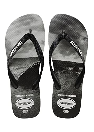 dc0637400 Havaianas Top Photo Print Mens Flip Flops Black White - 39-40