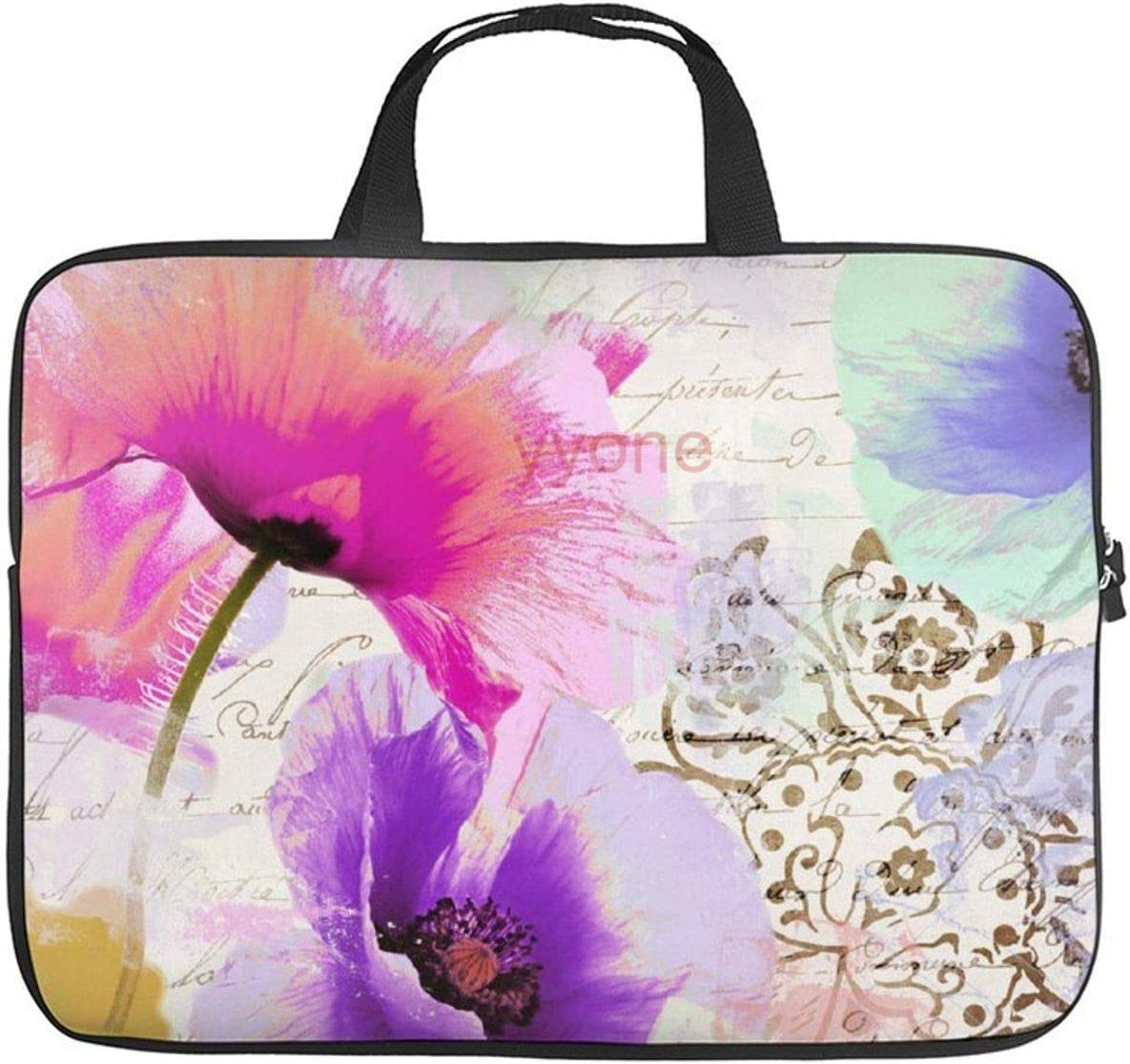 """Neoprene Sleeve Laptop Handbag Case Cover Paint and Poppies 10 Inch Laptop Sleeve Case for 9.7"""" 10.5"""" Ipad Pro Air/ 10"""" Microsoft Surface Go/ 10.5"""" Samsung Galaxy Tab"""